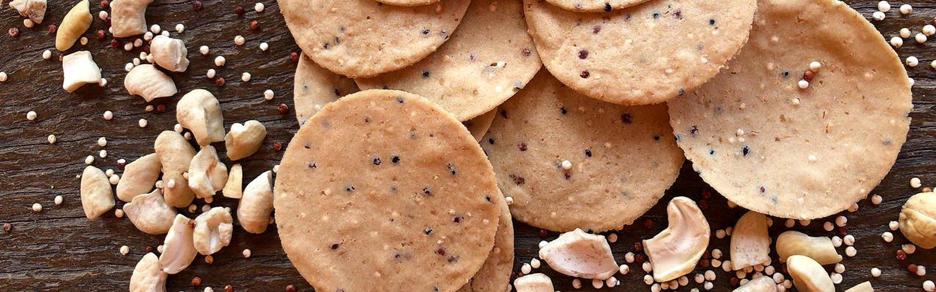 Biscoito de Castanha e quinoa